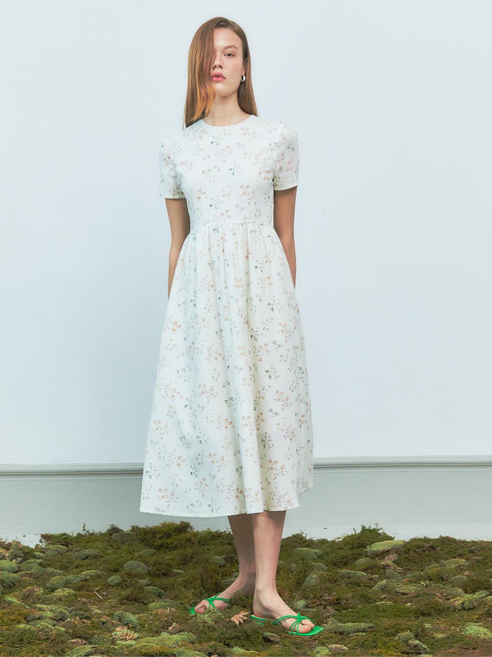 [BREEZE] Market Garden Linen Long Onepiece_WHITE (CTD2)