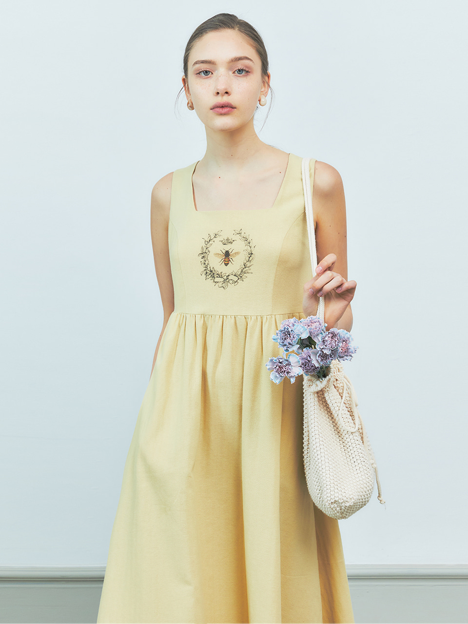 [BREEZE] Honey Bee Sleeveless Long Onepiece_YELLOW (CTD2)