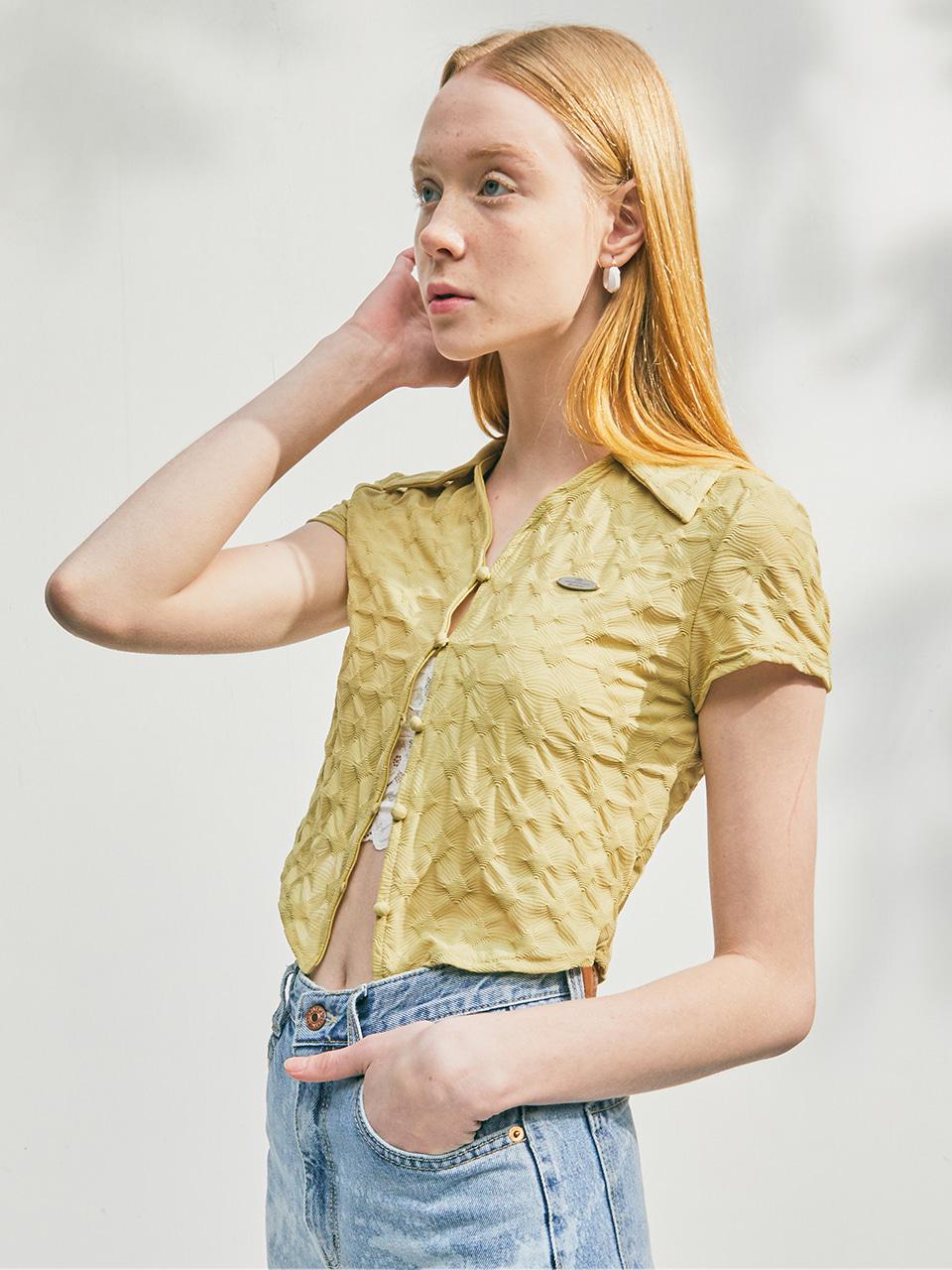 [CITY] Wrinkle Jersey Shirt_YELLOW (CTD2)