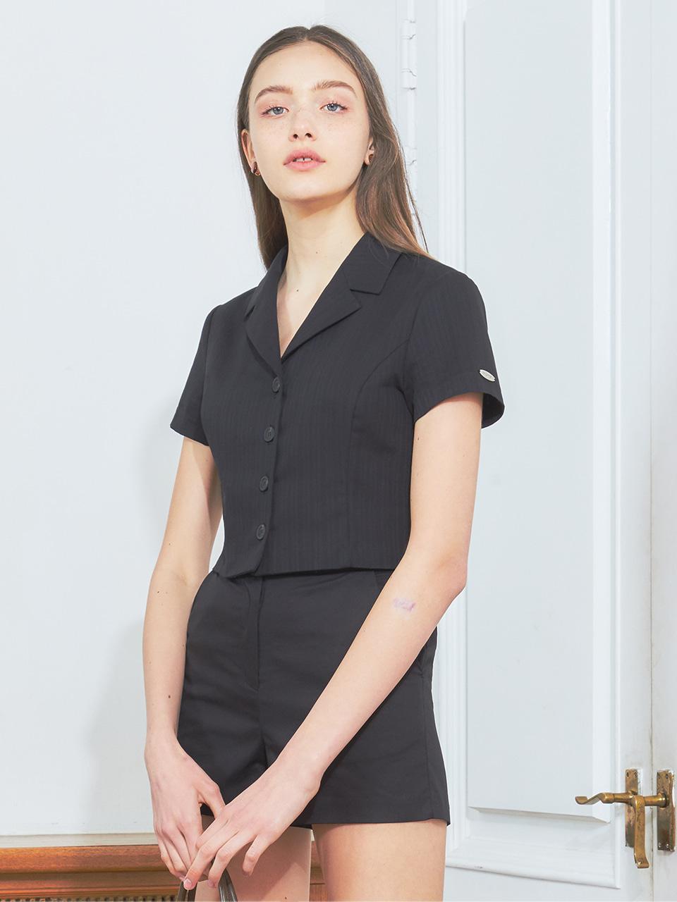 [BREEZE] Tailored Collar Shirt_BLACK (CTD2)