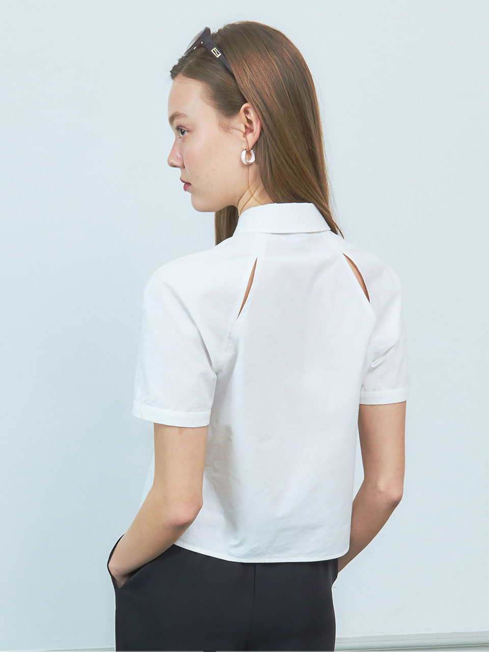 [BREEZE] Raglan Slit Point Shirt_WHITE (CTD2)